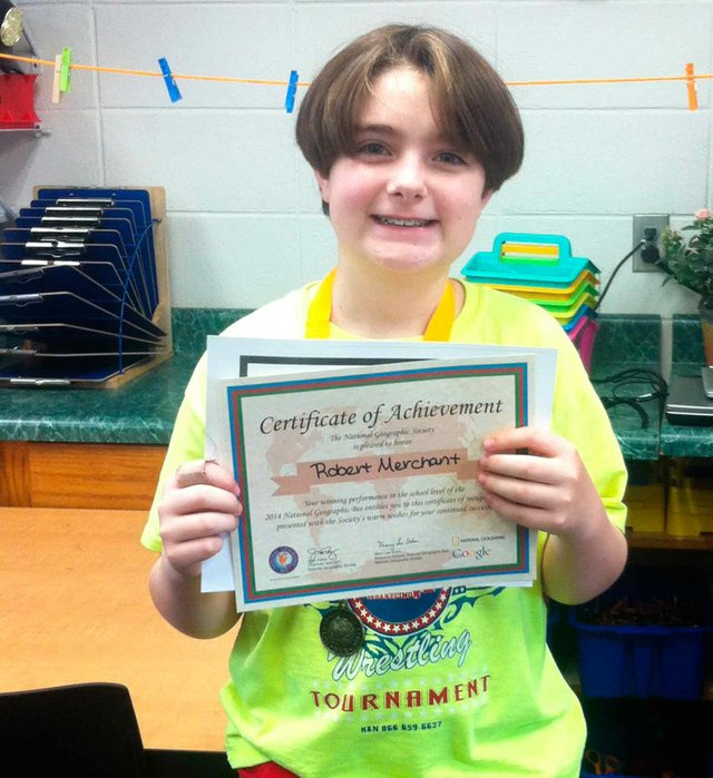 Robert Merchant state geo bee