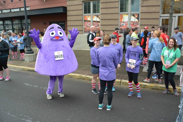 Grimace makes the scene