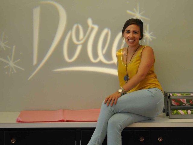 Doree employee during Wine Down