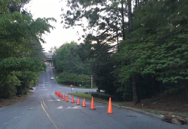 Emergency Road Construction at Brookwood Medical Center