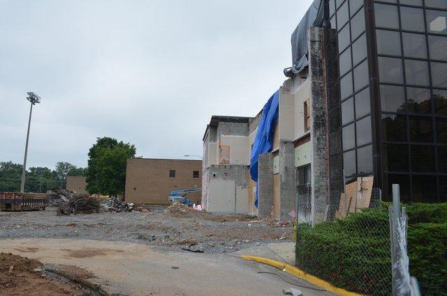 Construction at Homewood High School