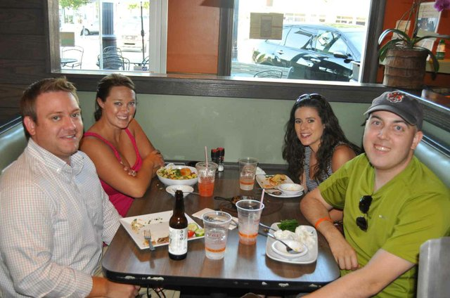 Friends enjoy Urban Cookhouse during Wine Down