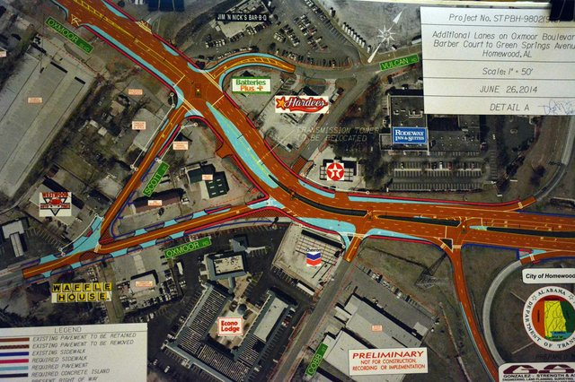 Oxmoor Boulevard Improvments Map
