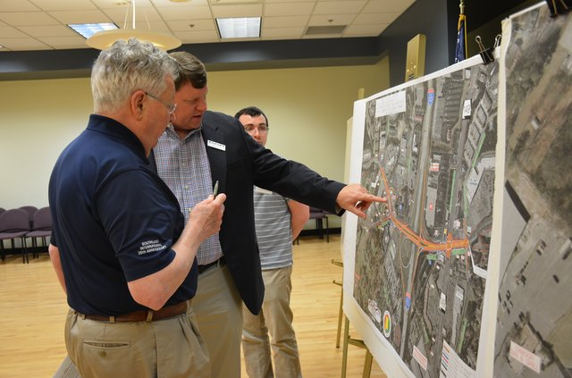 Oxmoor Road turkey foot intersection 2019 plans