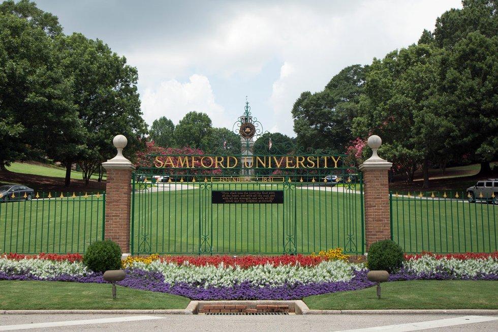 Samford University Bulldogs Homewood Alabama License Plate