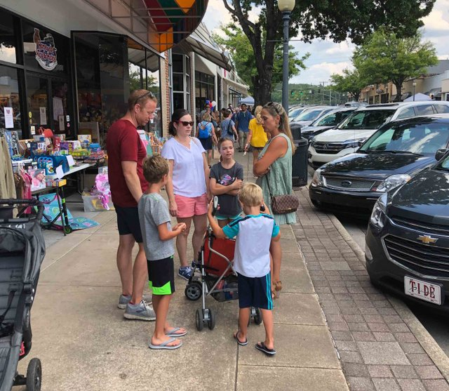 Family fun on 18th Street