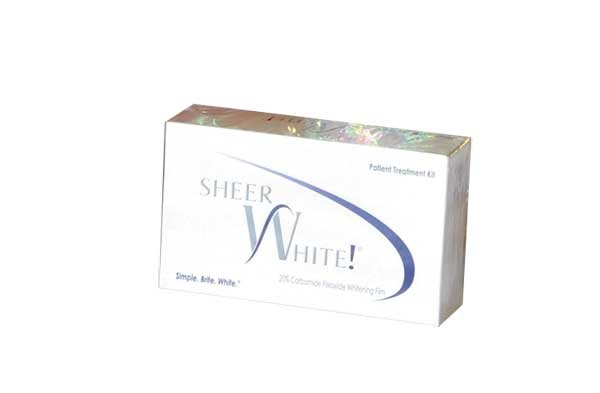 sheer white teeth whitening strips instructions