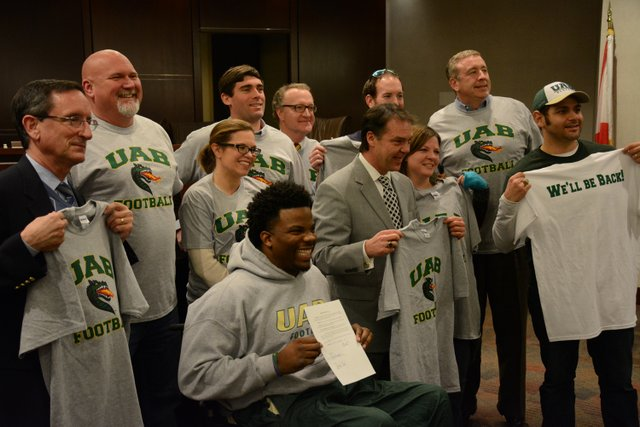 Council supports UAB football