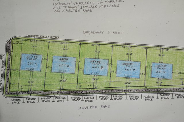 Proposed home designs on Broadway