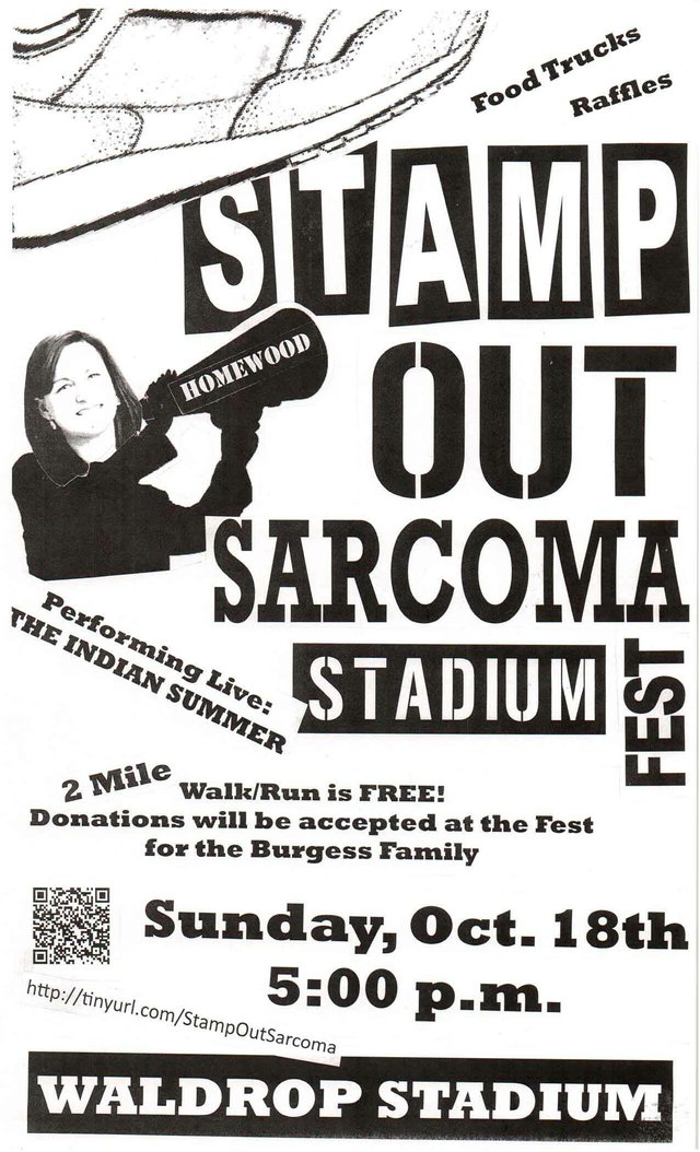 Stamp Out Sarcoma Stadium Fest Poster