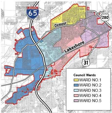 0613 City Ward Map