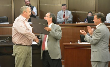 Fred Hawkins receives city resolution