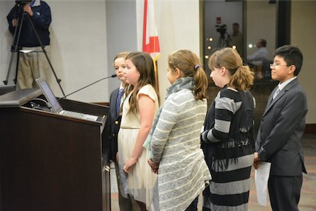 Shades Cahaba students address city council